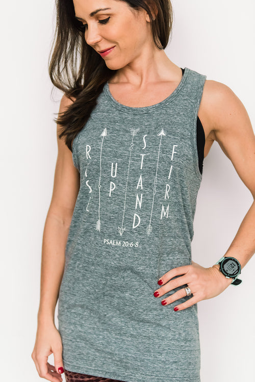 Rise Up Stand Firm Tank - Cross Training Couture