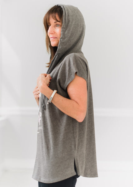 I Won't Give Up Short Sleeved Hoodie - Cross Training Couture
