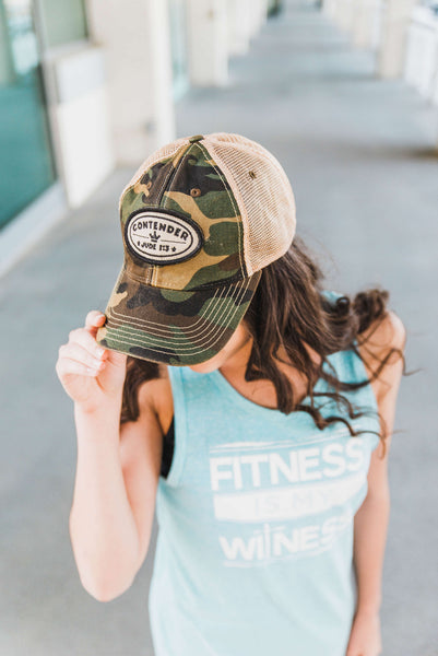 Contender Camo Hat - Cross Training Couture