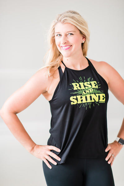 Rise & Shine Flowy High Neck Tank