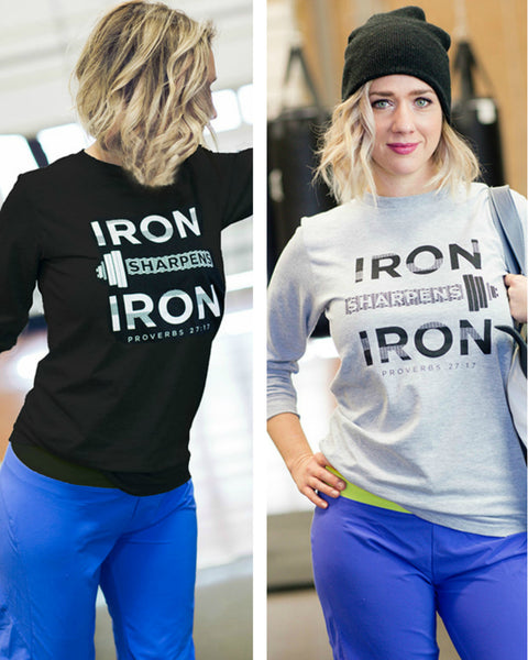 Unisex Iron Sharpens Iron Long Sleeve - Cross Training Couture