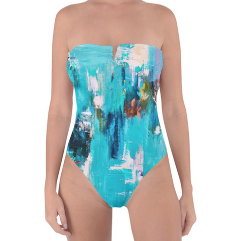 Aqua Color Splash One Piece