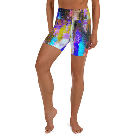 autum color splash Yoga Shorts