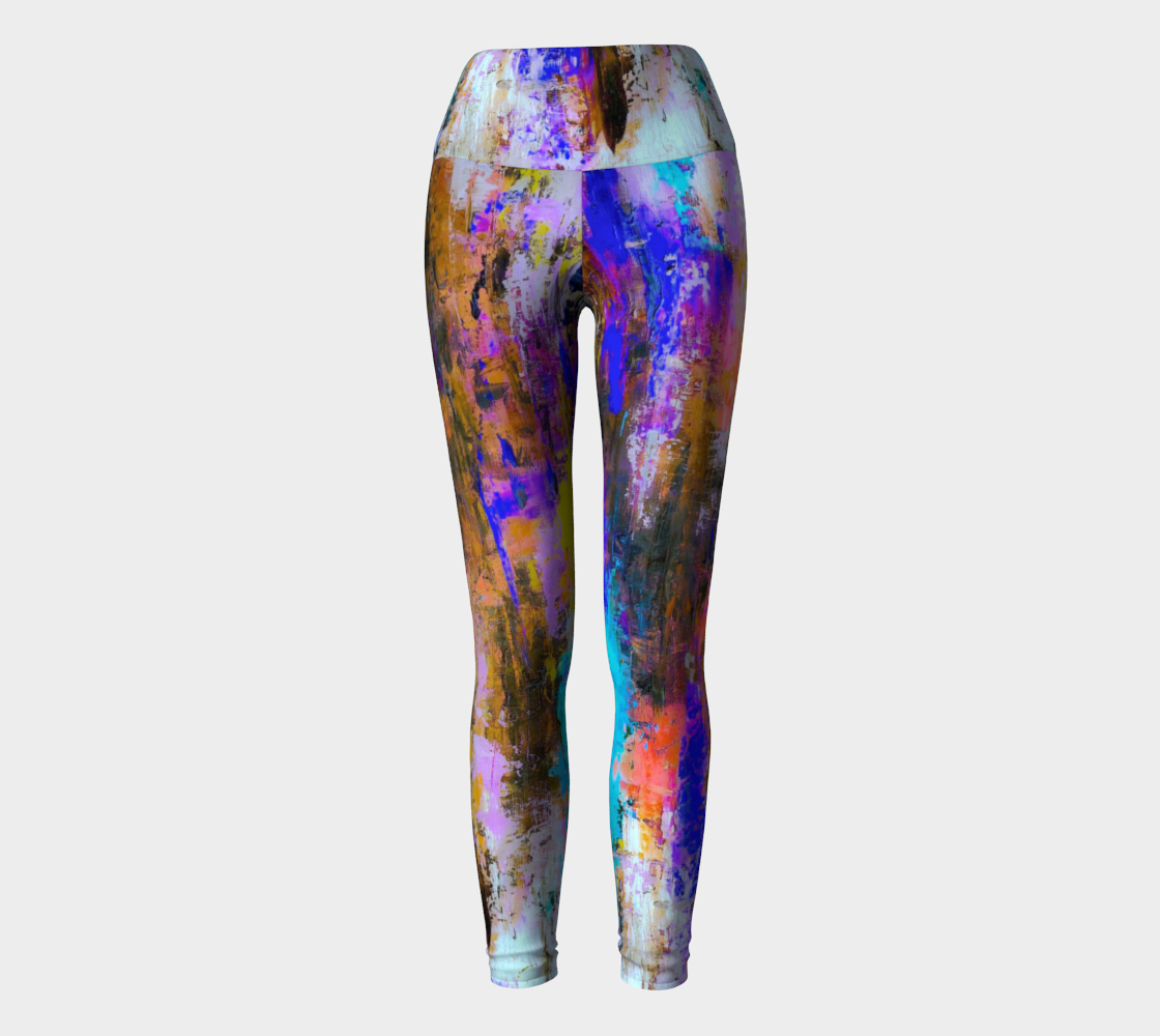 Autumn Color Splash Yoga Leggings