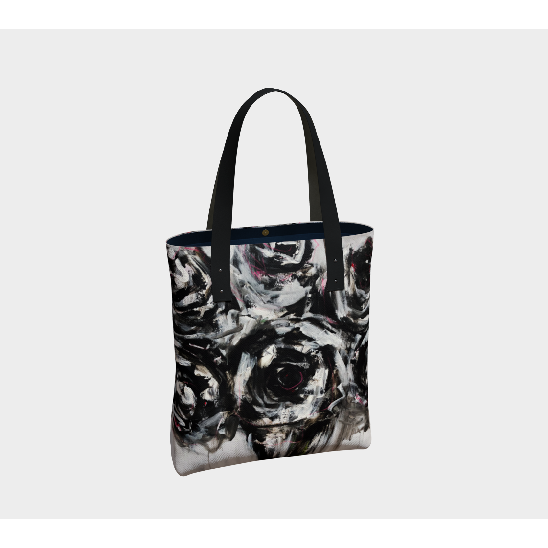 Beach Tote  - Black Rose