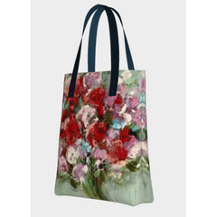 Beach Tote  - Red Bouquet