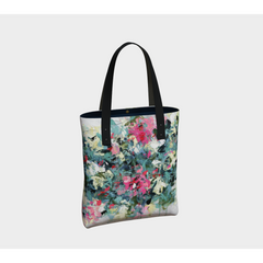 Beach Tote  - Spring Floral Abstract