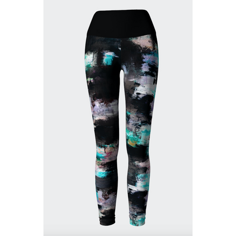 Black Lilac Yoga Leggings