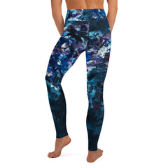 Blue Graffiti Floral Matching Bottoms