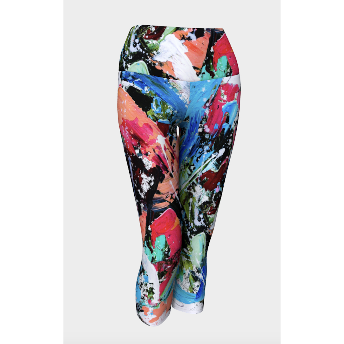 Blue Peach Frenzy Yoga Capris