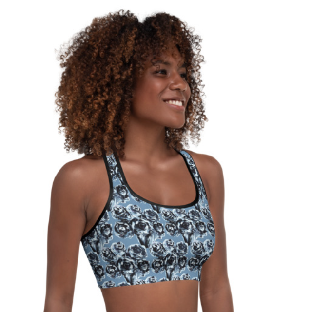 Blue Rose Bra Top