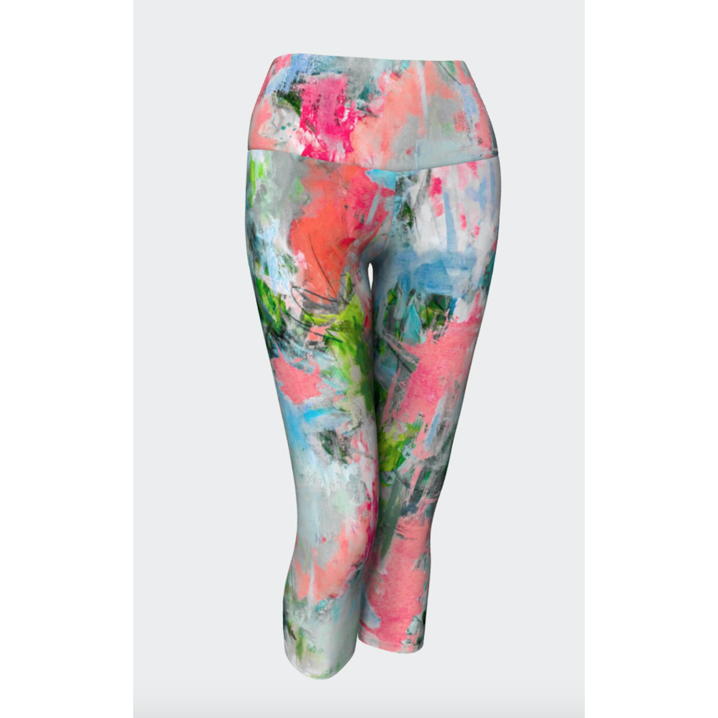 Bright Floral Frenzy Yoga Capris
