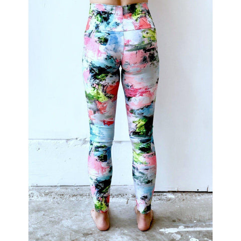 Bright Floral Frenzy Yoga Leggings
