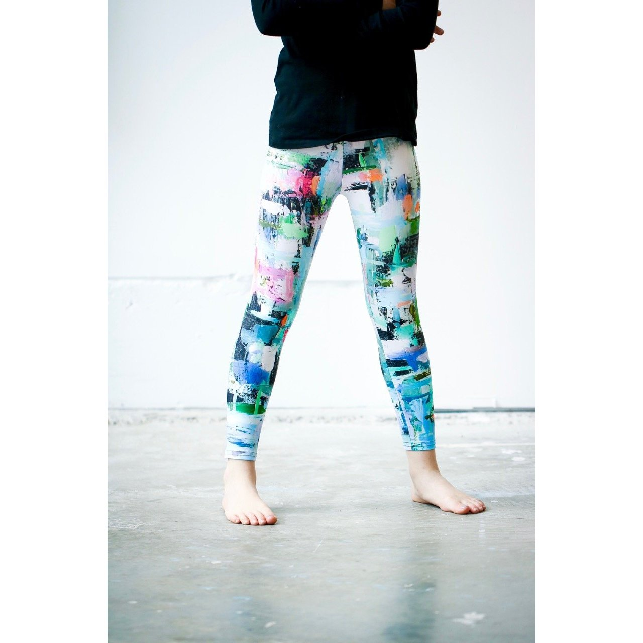 Girls Aqua geometric Pants