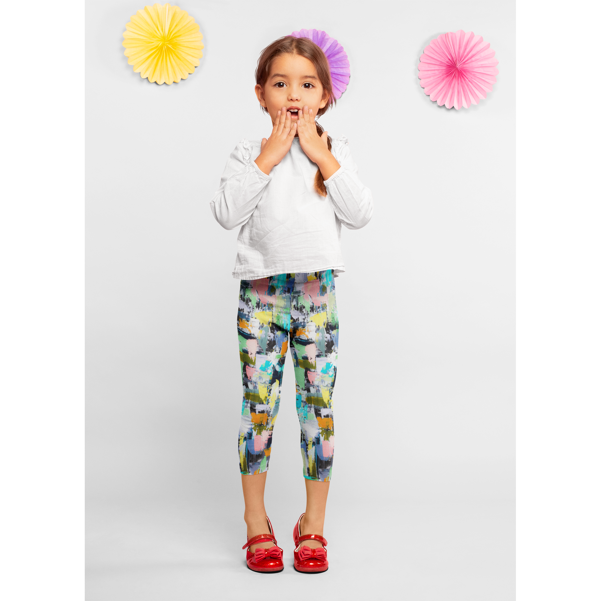 Girls Aqua Lime Pants