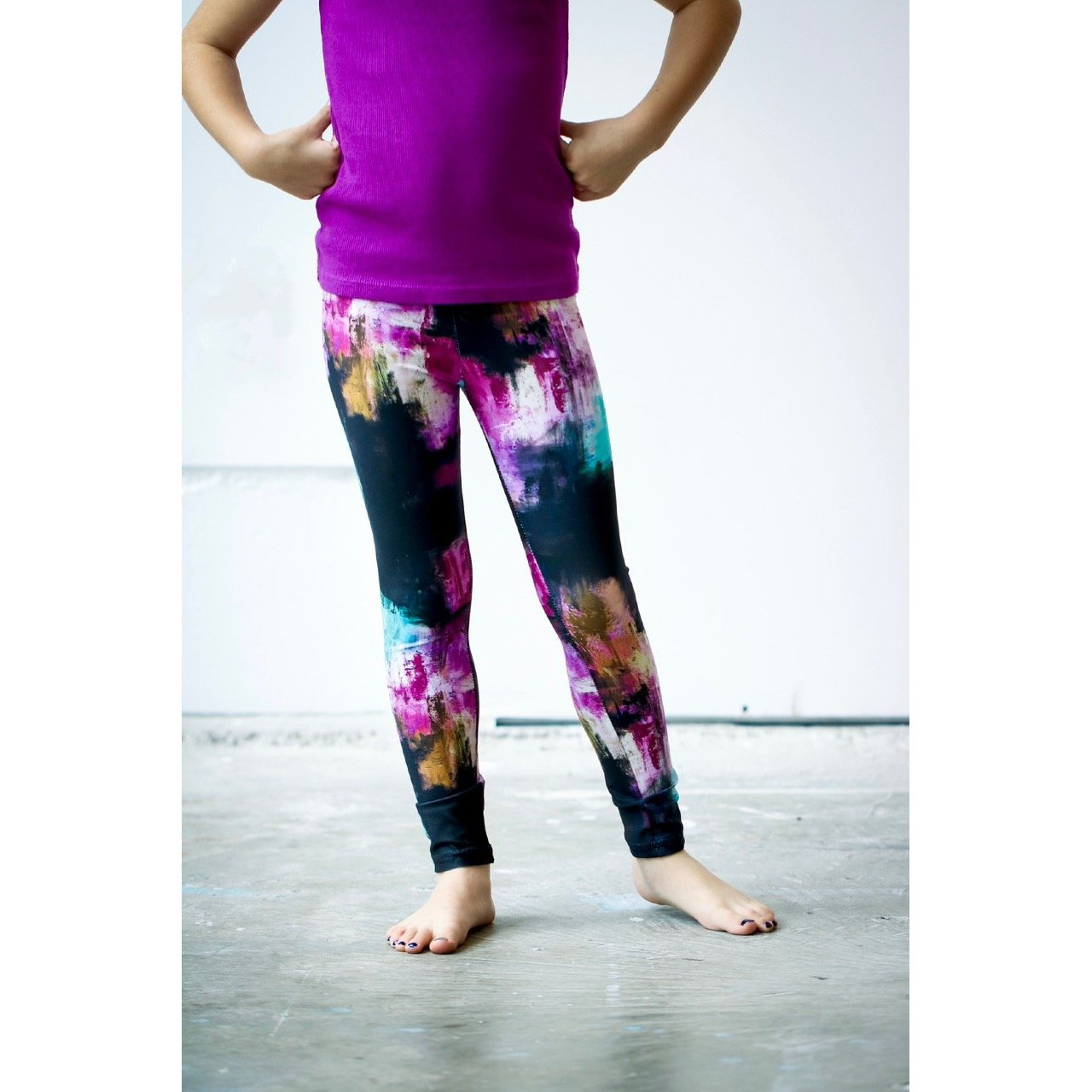 Girls Aqua Pink Pants
