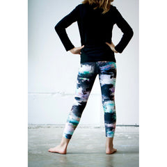 Girls Black Lilac Aqua Pants