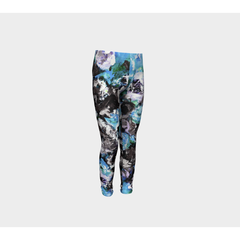 Girls Blue Black Rose Pants