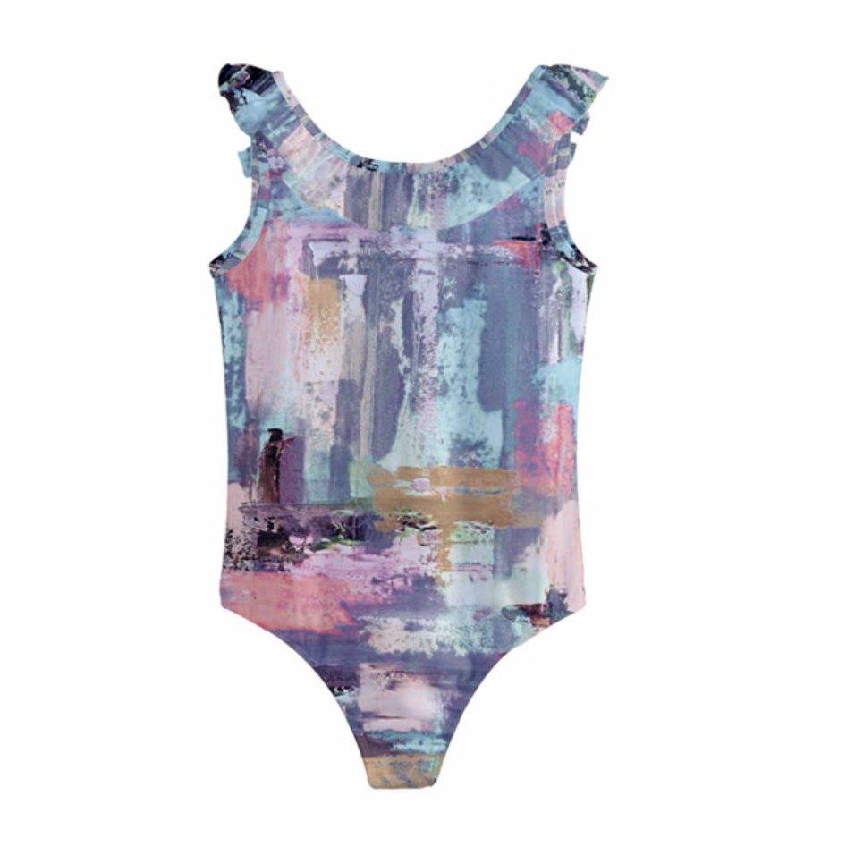 Girls Muted Lilac Swimsuit