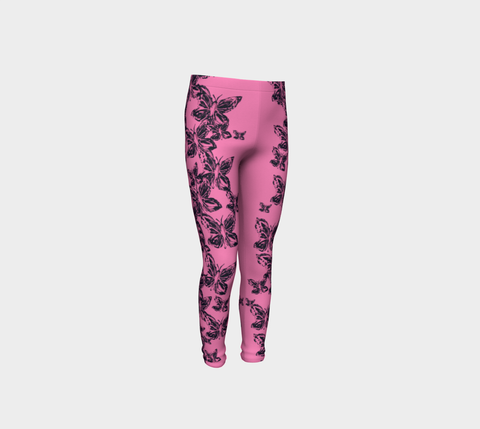 Girls Pink Butterfly Pants for Breast Cancer