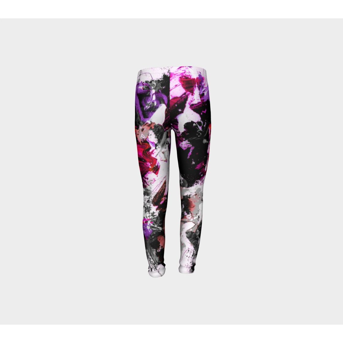 Girls Pink Floral Splash Pants