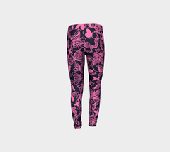Girls Pink Ink Butterfly Pants for Breast Cancer