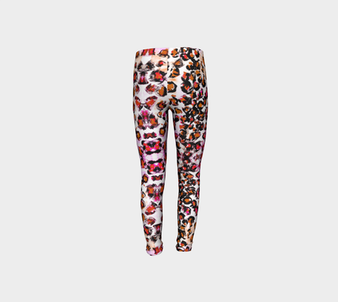 Girls Pink Leopard Pants for Breast Cancer