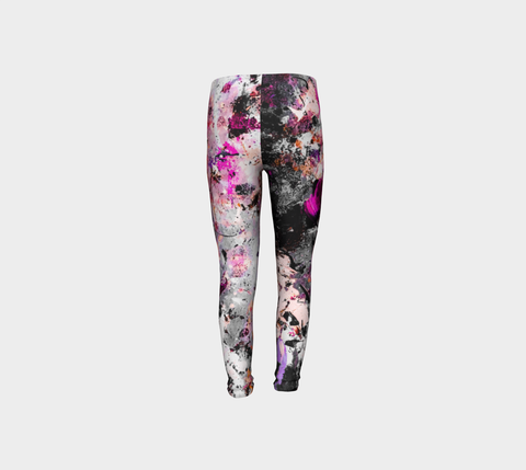 Girls Pink Splatter Pants for Breast Cancer