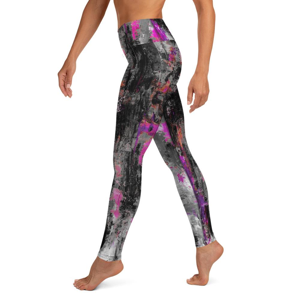 Gray Purple Power Splash Matching Bottoms