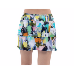 Lemon Aqua Tennis Skirt