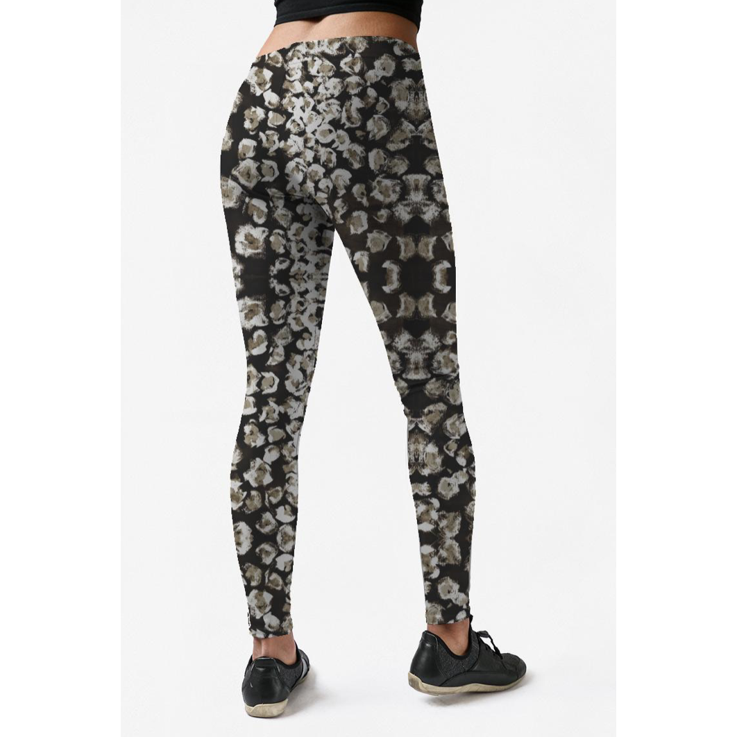 Low Rise Black Olive Leopard Yoga Leggings