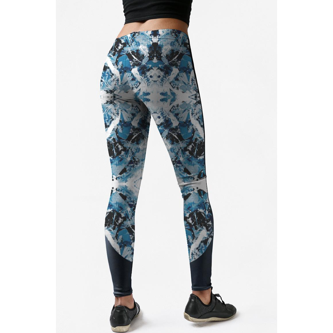 Low Rise Blue Vintage Yoga Leggings