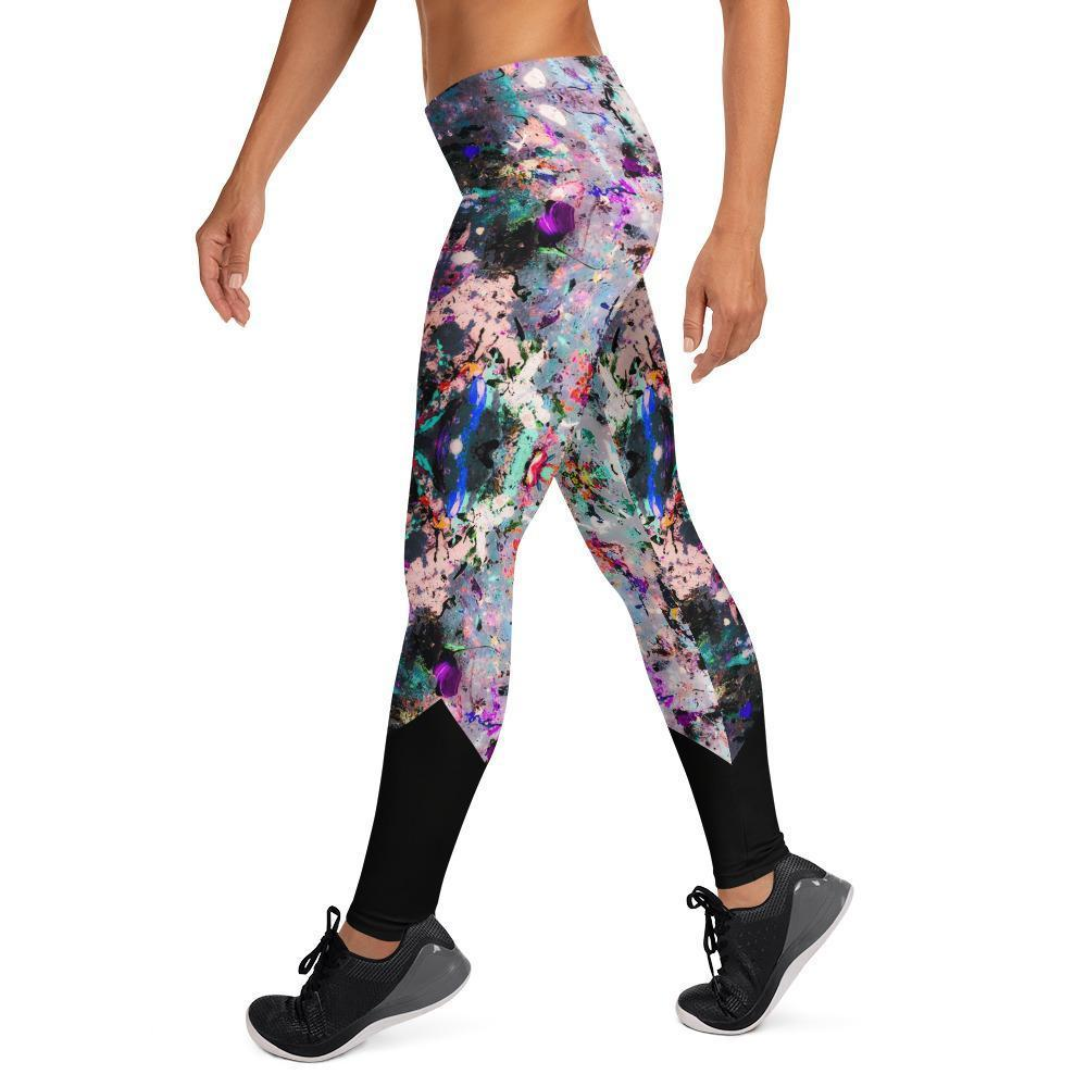 Low Rise Lilac Splatter Yoga Leggings