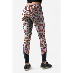 Low Rise Pink Leopard Yoga Leggings