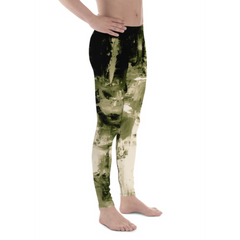Men's Khaki Abstract Athletic Bottoms