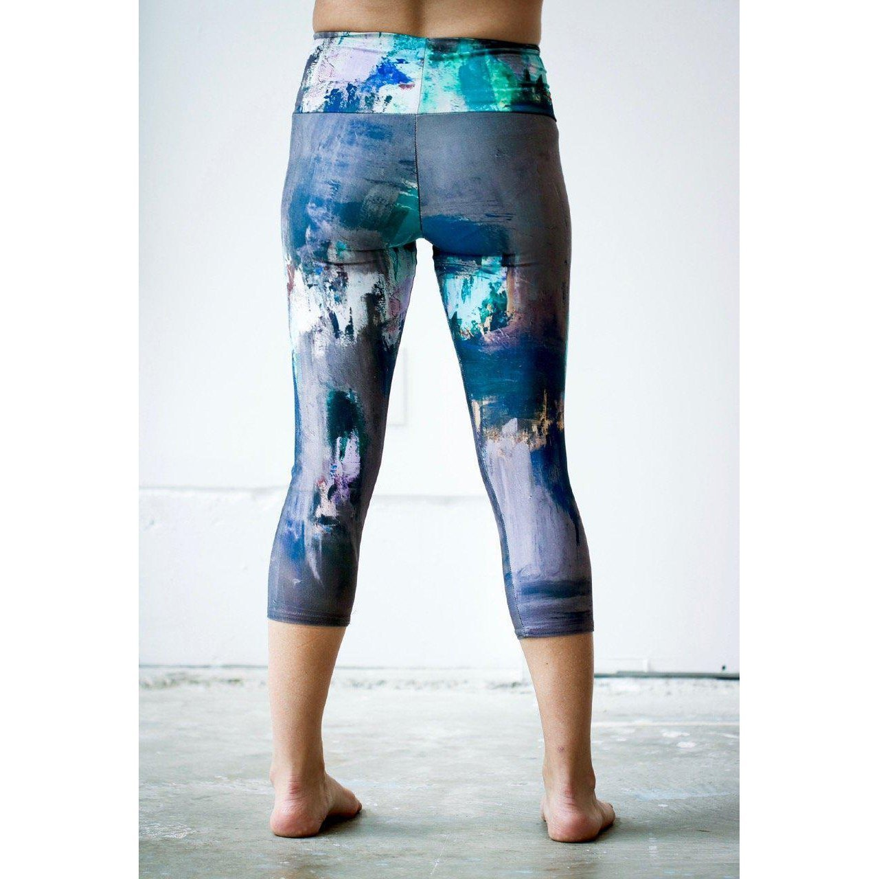 Peacock Feather Yoga Capris