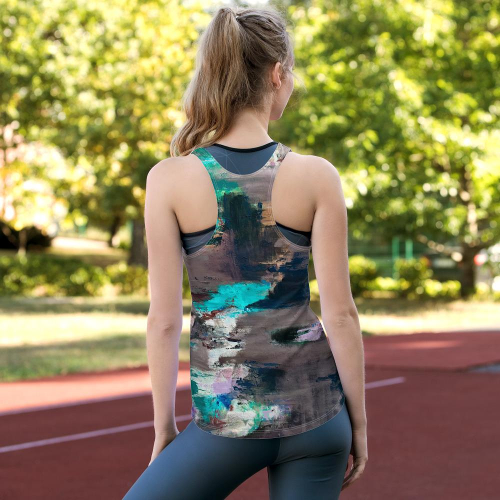 peacock feathers Women's Racerback Tank