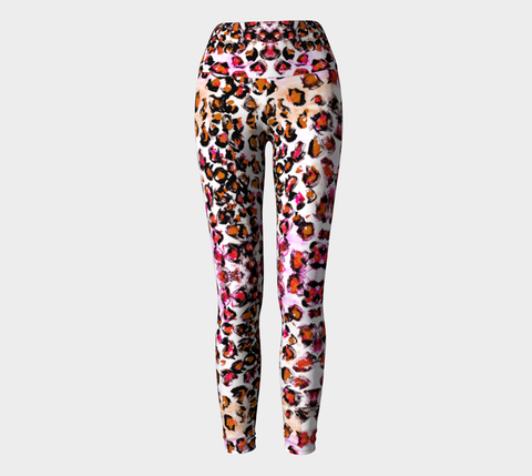 Pink Leopard Breast Cancer Awareness Yoga Leggings