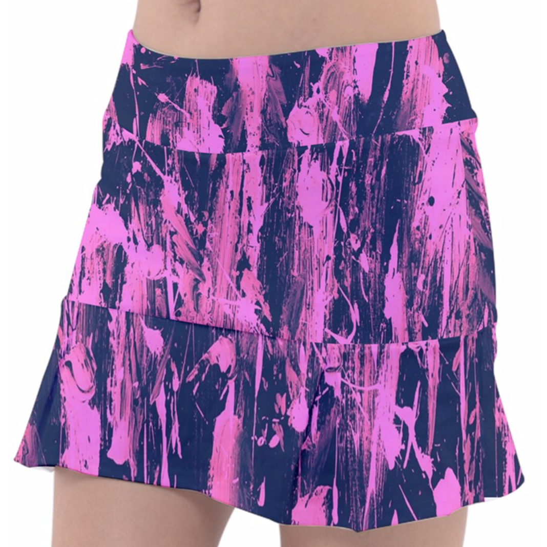 Pink Splash Tennis Skirt