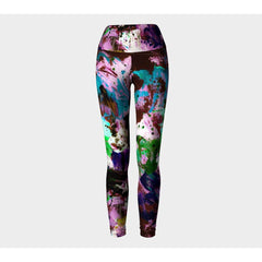 Purple Color Splash Yoga Leggings