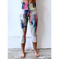 Rainbow Stripe Yoga Capris