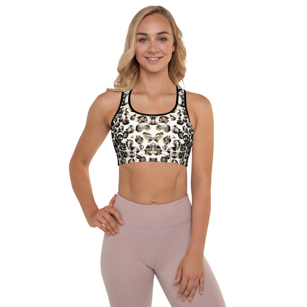 White Leopard Bra Top