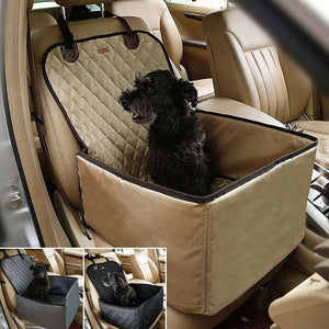Charlie Buddy - Hand picked products for your dogs and cats-2 in 1 Comfortable Dog Car Seat-Beige