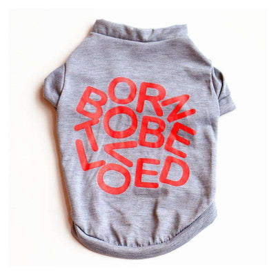 "Charlie Buddy - Hand picked products for your dogs and cats-""Born to be loved"" T-shirt"