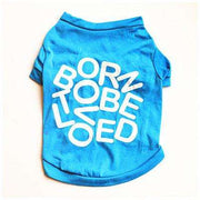 "Charlie Buddy - Hand picked products for your dogs and cats-""Born to be loved"" T-shirt-Blue / XS"