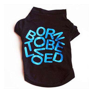 "Charlie Buddy - Hand picked products for your dogs and cats-""Born to be loved"" T-shirt-Black / XS"