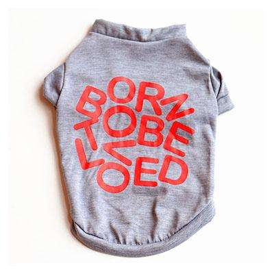 "Charlie Buddy - Hand picked products for your dogs and cats-""Born to be loved"" T-shirt-Gray / XS"