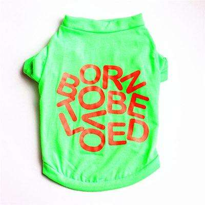 "Charlie Buddy - Hand picked products for your dogs and cats-""Born to be loved"" T-shirt-Light Green / XS"