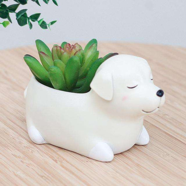 Charlie Buddy - Hand picked products for your dogs and cats-Cartoon Dogs Flower Pots-Labrador