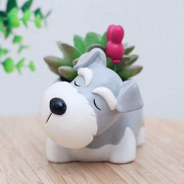 Charlie Buddy - Hand picked products for your dogs and cats-Cartoon Dogs Flower Pots-Schnauzer